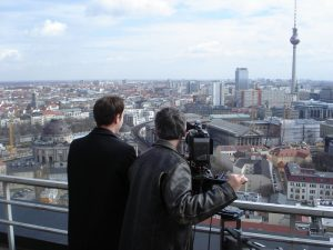 Filming in Berlin