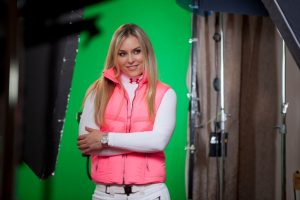 Portable green screen shoot with Lindsey Vonn