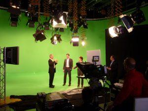 Big green screen studio setup